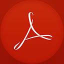 Adobe Reader flat circle-128