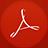 Adobe Reader flat circle-48
