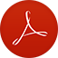 Adobe Reader flat circle icon