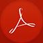 Adobe Reader flat circle Icon