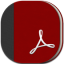 Adobe Reader Flat Round Icon