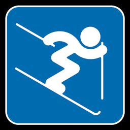Alpine Skiing Jump