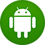 Android flat circle icon