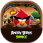 Angrybirdsspace Flat Round icon