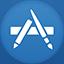 Appstore flat circle Icon