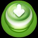 Arrow Down Button Green-128