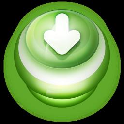 Arrow Down Button Green