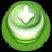 Arrow Down Button Green-48