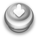 Arrow Down Button Grey-128