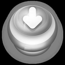 Arrow Down Button Grey