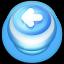 Arrow Left Button Blue Icon