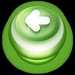 Arrow Left Button Green