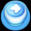 Arrow Right Button Blue-64