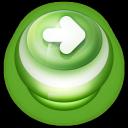 Arrow Right Button Green-128