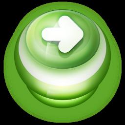 Arrow Right Button Green