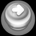 Arrow Right Button Grey-128