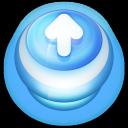 Arrow Up Button Blue-128