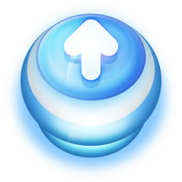 Arrow Up Button Blue