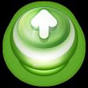 Arrow Up Button Green-128