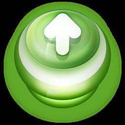 Arrow Up Button Green