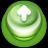 Arrow Up Button Green-48
