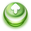 Arrow Up Button Green icon