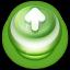 Arrow Up Button Green icon
