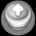 Arrow Up Button Grey-128
