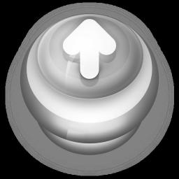 Arrow Up Button Grey