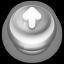 Arrow Up Button Grey-64