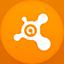 Avast flat circle icon