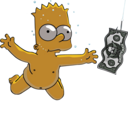 Bart Simpson Nirvana Nevermind
