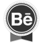 Behance Round Ribbon Icon