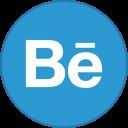 Behance Round With Border-128