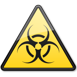 Biological Hazard Symbol Triangle