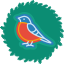 Bird Wreath Icon