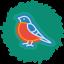 Bird Wreath Icon