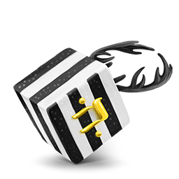 Black White strips cube
