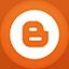 Blogger flat circle icon