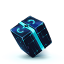 Blue cube-128