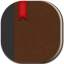 Book Flat Round icon