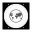 Browser white round Icon