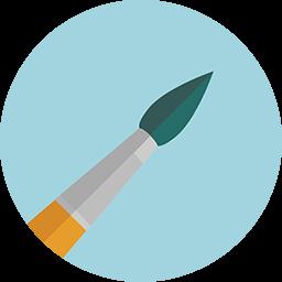Brush Icon Download Flat Round Icons Iconspedia
