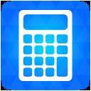 Calculator blue