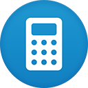 Calculator flat circle-128