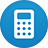 Calculator flat circle-48
