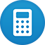 Calculator flat circle icon