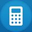 Calculator flat circle Icon