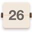 Calendar flat brown icon