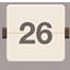 Calendar flat brown